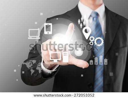 All in one, broadcasting, browsing. - stock photo