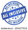 All inclusive stamp - stock photo