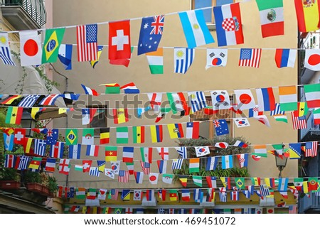 All International Flags Festive Street Decor