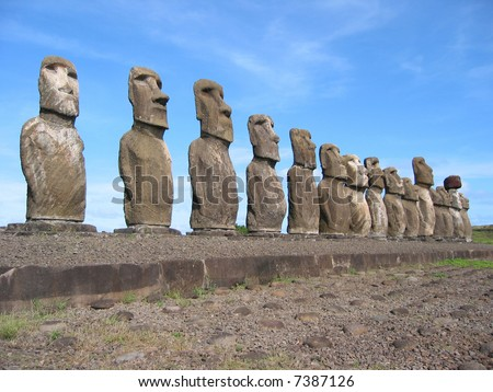 All 15 Moais of Ahu Tongariki, Easter Island