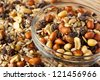 All Natural Homemade Trail Mix ready to eat - stock photo