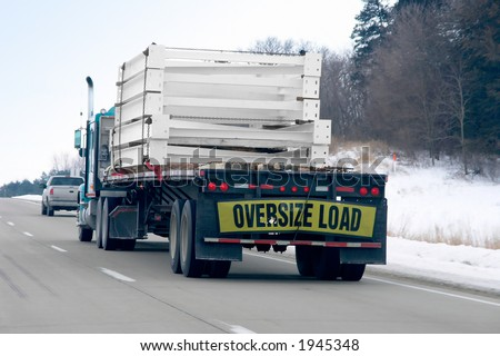 All season trucking - stock photo