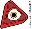 all seeing eye cartoon - stock vector