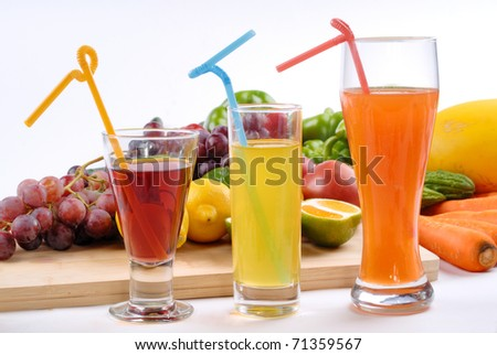 All sorts of fruit juice