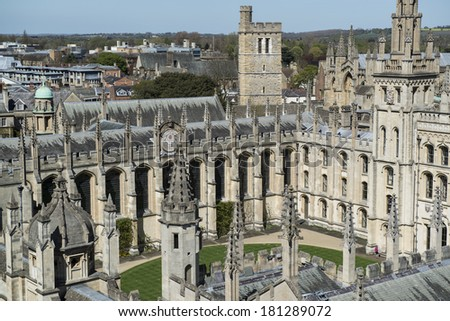 All Souls College in Oxford - stock photo