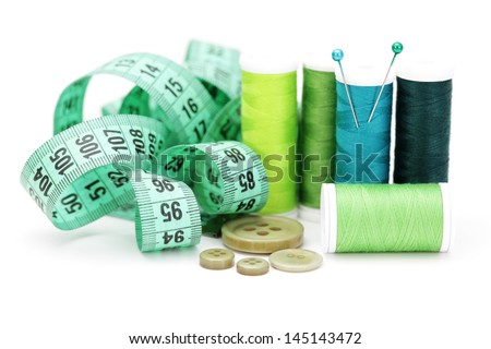 all you need to have some fun with sewing  - stock photo