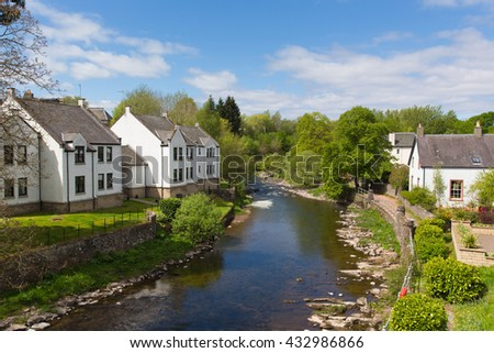 Allan Water river Dunblane Scotland UK in summer which runs through the town
