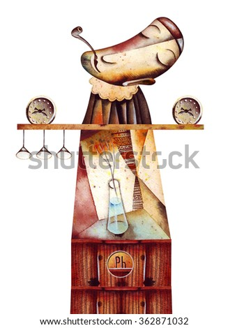 Allegory of Time - stock photo