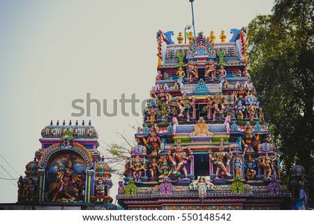 ALLEPEY, INDIA - DECEMBER 15, 2013: Ancient traditional Hindu Temple in Allepey , Kerala