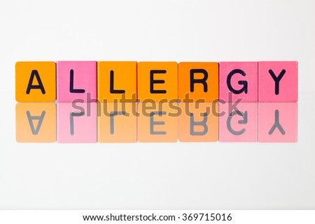 Allergy - an inscription from children's wooden blocks - stock photo