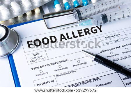 Allergy food concept. Allergy food as almonds