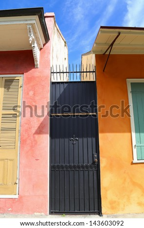alley gate - stock photo