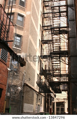 Alleyway - stock photo