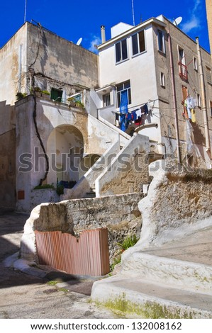 Alleyway. Massafra. Puglia. Italy. - stock photo