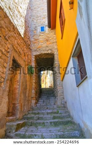 Alleyway. Pietragalla. Basilicata. Italy. - stock photo