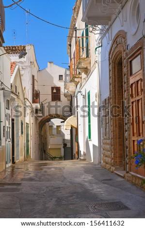 Alleyway. Pisticci. Basilicata. Italy.  - stock photo