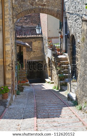 Alleyway. San Gemini. Umbria. Italy. - stock photo