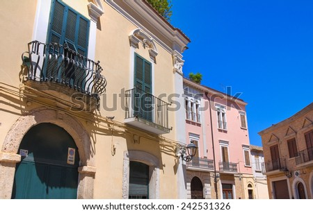 Alleyway. San Severo. Puglia. Italy.  - stock photo