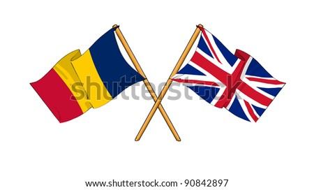 Alliance and friendship between Chad and United Kingdom - stock photo