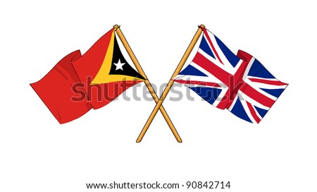 Alliance and friendship between East Timor and United Kingdom - stock photo