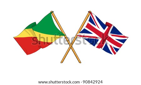 Alliance and friendship between Republic of the Congo and United Kingdom - stock photo