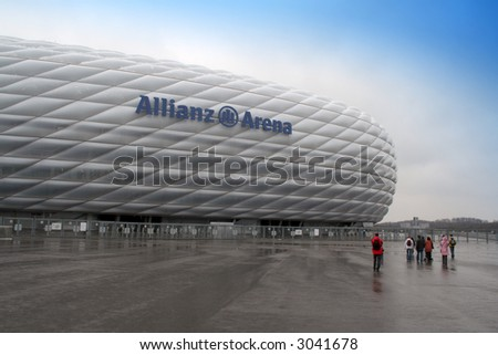 Allianz Arena - The modern football stadium in Munich, Germany.