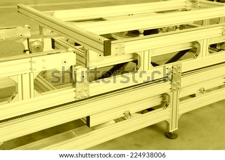 alloy material production equipment in manufacturing factory - stock photo