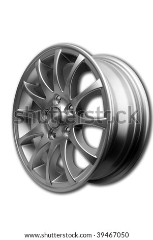 Alloy wheel isolated on white