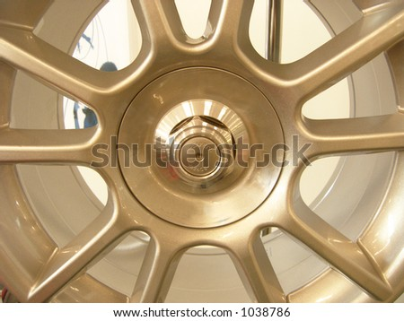 Alloy wheel rim - stock photo