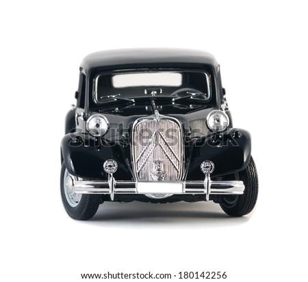 Almaty, Kazakhstan - March 4, 2014: Vintage collectible model cars Citroen 15 CV Cyl - stock photo