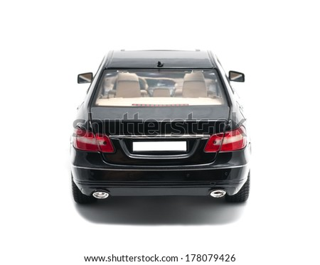 ALMATY, KAZAKHSTAN - OCTOBER 29, 2013 - Collectible toy Mercedes-Benz E-Class E350 Sedan isolated on white background