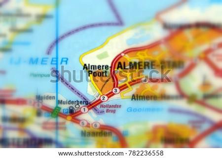 Almere Poort District Almere Province Flevoland Stock Photo