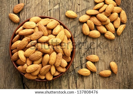 Almond - stock photo