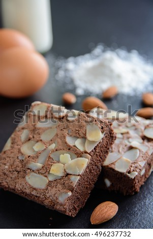 Almond brownies.