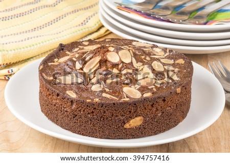 Almond coffee cake - stock photo