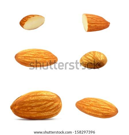 almond nuts - stock photo