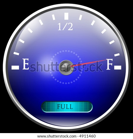 Almost full gas tank - stock photo