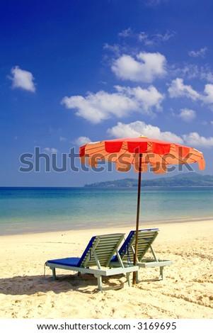 Almost paradise. Beach at Phuket, Thailand. - stock photo