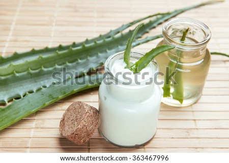 aloe vera for skin care and health in a jar