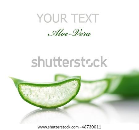 Aloe Vera Slices.Selective focus - stock photo