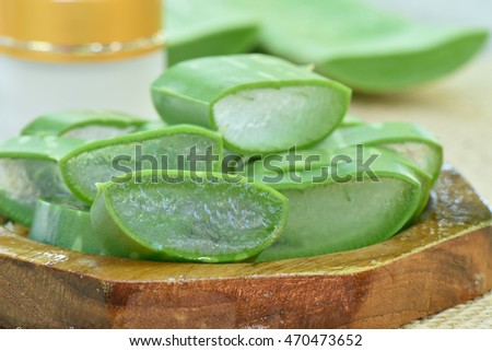 Aloevera use in spa for skin treatment or skin care