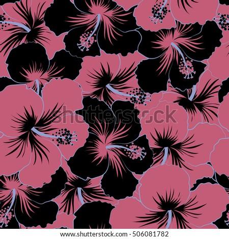 Pink and Black Hawaiian Shirt