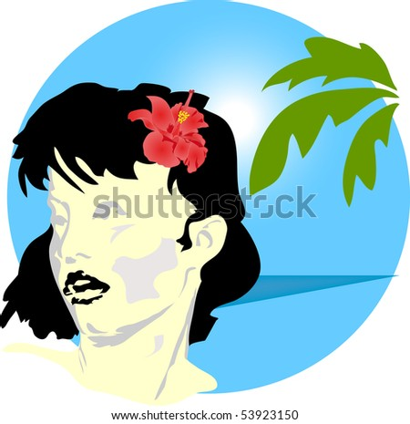 aloha, it is possible to use as a design element or background - stock photo