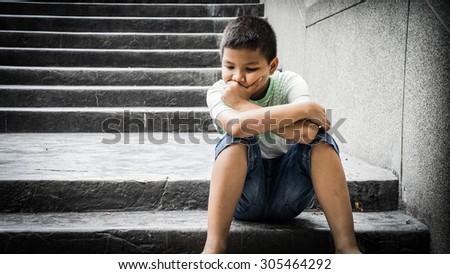 alone - stock photo