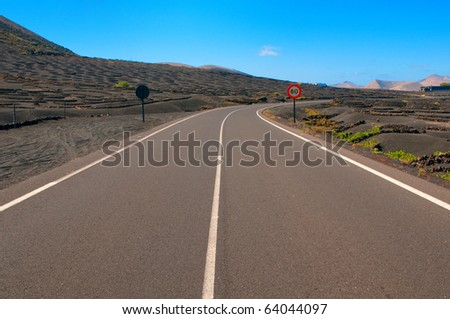 Along the road in Spain - stock photo