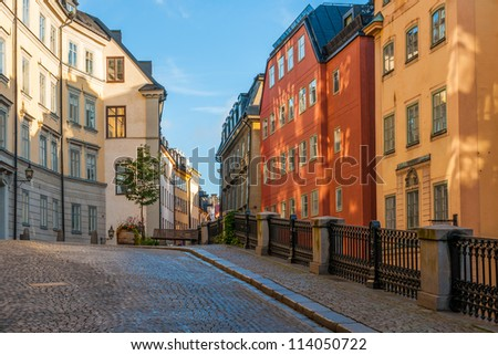 Along the streets of The Old Town (Gamla Stan) in Stockholm