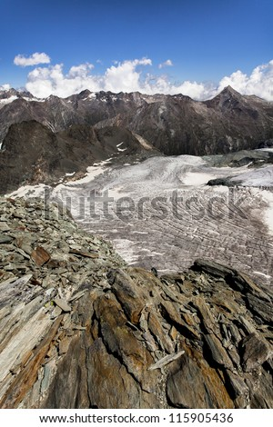 alp berg - stock photo