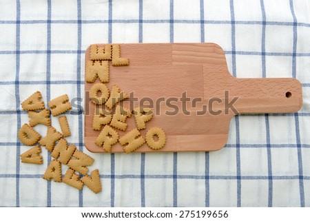 Alphabet biscuits cookie cracker - stock photo