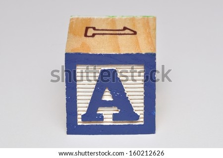 Alphabet block A isolated on a white background - stock photo