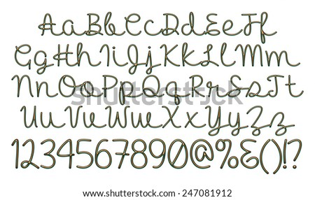Alphabet 3 d letters gold green metal stock illustration 247081912 alphabet 3d letters from gold green metal with numbers objects over white altavistaventures Images